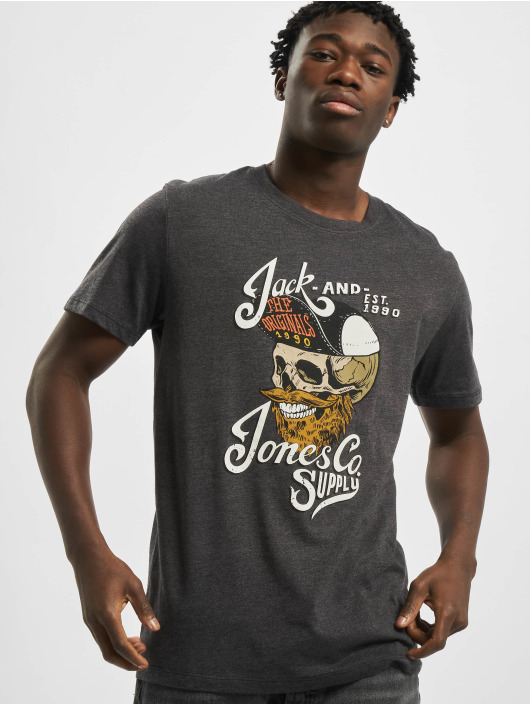 Jack & Jones T-Shirt jorSkulling grau