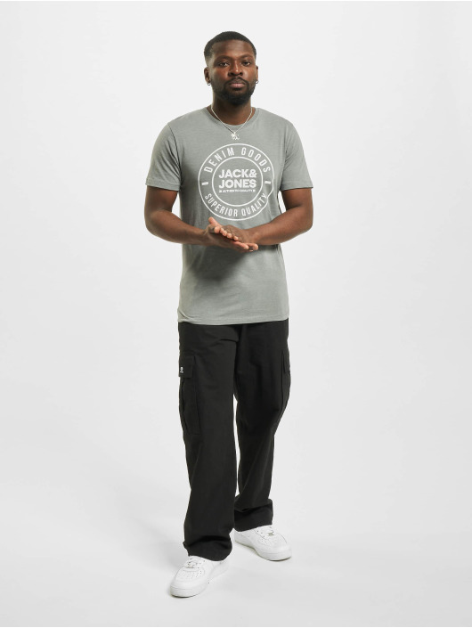 Jack & Jones T-Shirt jjeJeans Noo grau