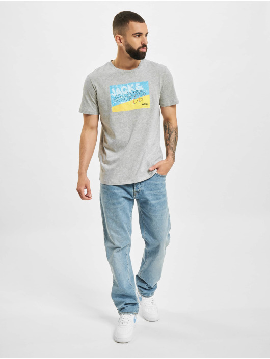 Jack & Jones T-Shirt JOR Azure grau
