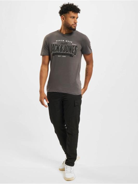 Jack & Jones T-Shirt Jjelogo O-Neck grau