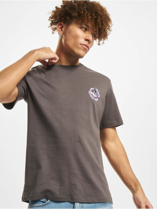 Jack & Jones T-Shirt Jcospace Jam Print Crew Neck grau