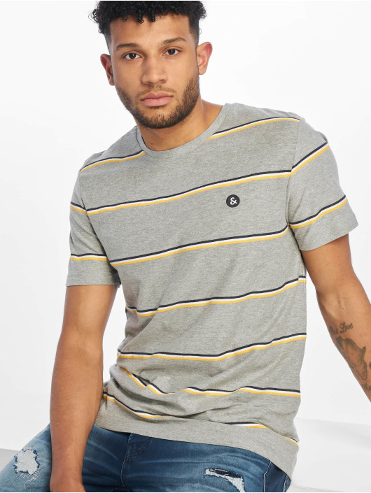 Jack & Jones T-Shirt jorHerringbone gray