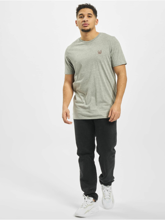 Jack & Jones T-Shirt jjeDenim Logo O-Neck Noos gray
