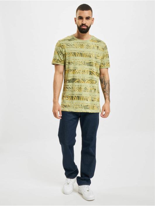 Jack & Jones T-Shirt JPR Bludust Placement Stripe green