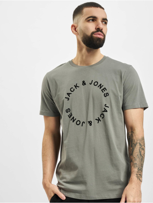 Jack & Jones T-Shirt jjCircle Flock grey