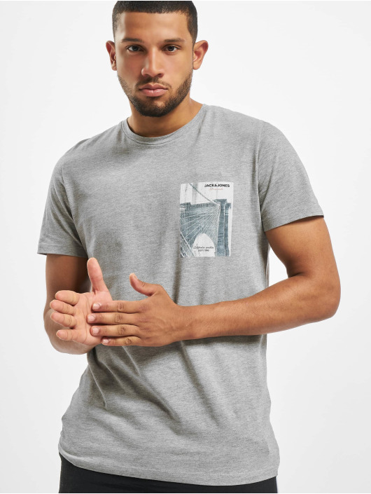 Jack & Jones T-Shirt jorHolidaz gris