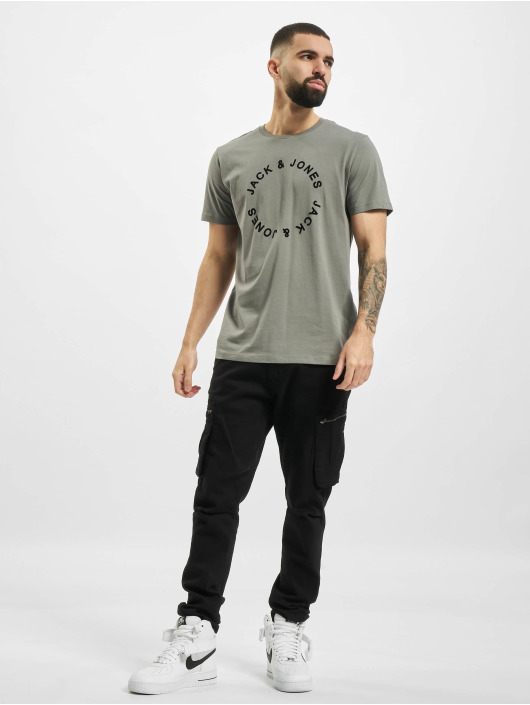 Jack & Jones T-Shirt jjCircle Flock gris