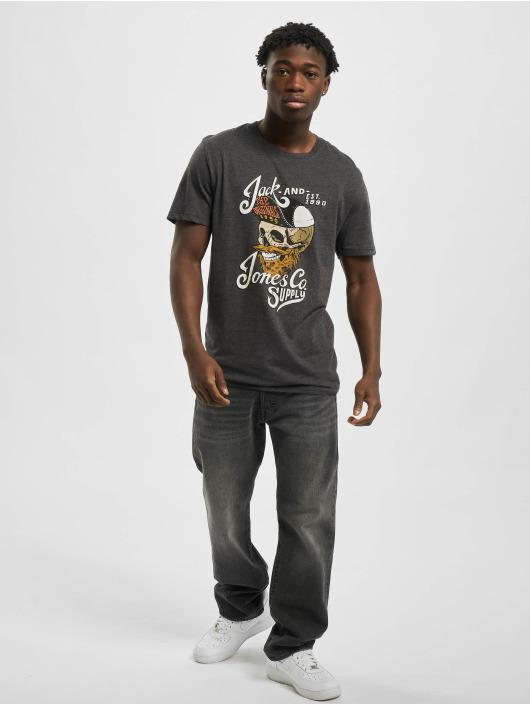 Jack & Jones T-Shirt jorSkulling gris