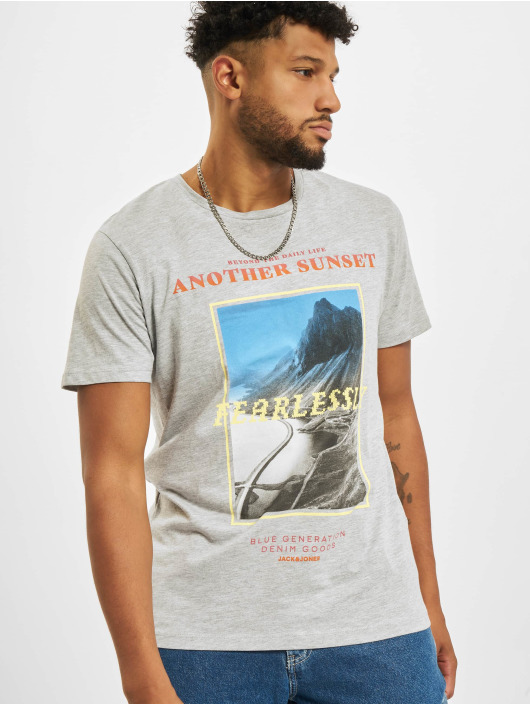 Jack & Jones T-Shirt Jjurban City Crew Neck gris