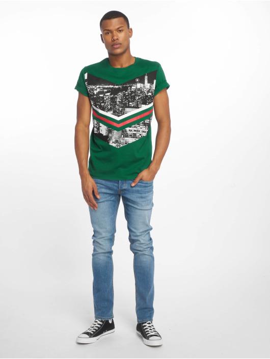 Jack & Jones T-Shirt jcoOval grün