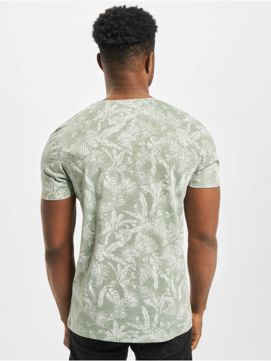 Jack & Jones T-Shirt jorElron Organic Crew Neck grün
