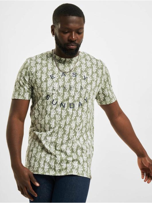 Jack & Jones T-Shirt JOR Sunny AOP grün