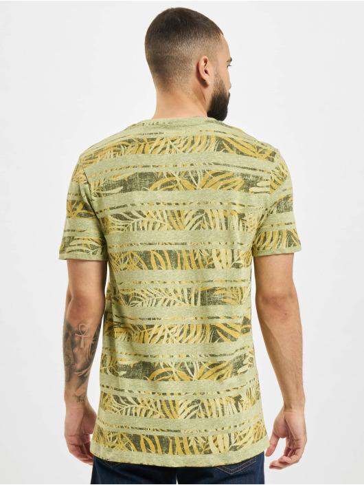 Jack & Jones T-Shirt JPR Bludust Placement Stripe grün