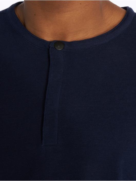 Jack & Jones T-Shirt manches longues Jprjaxon Henley bleu