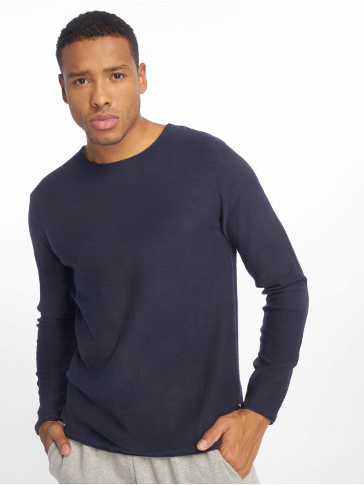 Jack & Jones T-Shirt manches longues jjeSlub Knit bleu