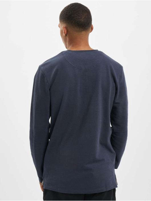 Jack & Jones T-Shirt manches longues jjeJeans Henley Noos bleu