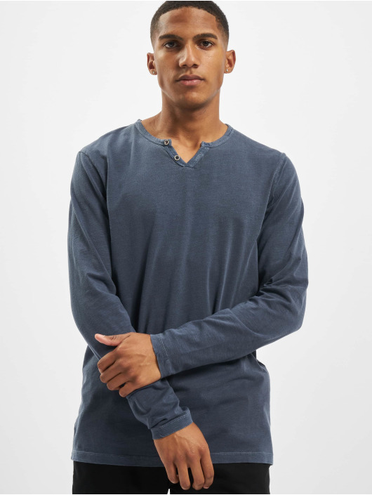 Jack & Jones T-Shirt manches longues jjeSplit Neck Noos bleu