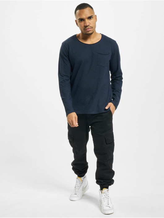 Jack & Jones T-Shirt manches longues jorAutumn Organic bleu
