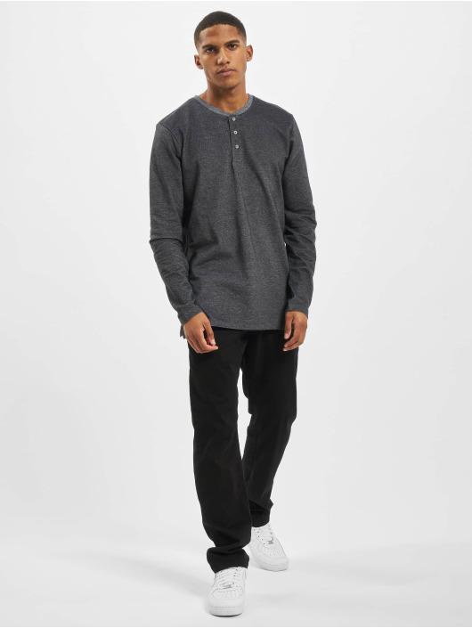 Jack & Jones T-Shirt manches longues jjeJeans Henley Noos gris