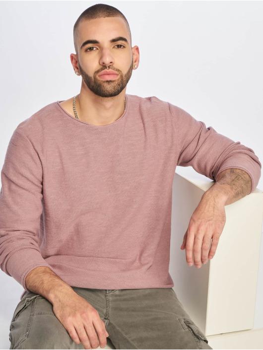 Jack & Jones T-Shirt manches longues jjeSlub Knit pourpre