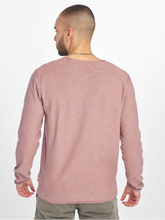 Jack & Jones T-Shirt manches longues jjeSlub Knit pourpre