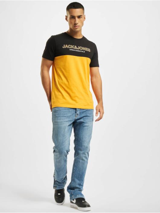 Jack & Jones T-Shirt Jjeurban Blocking O-Neck orange