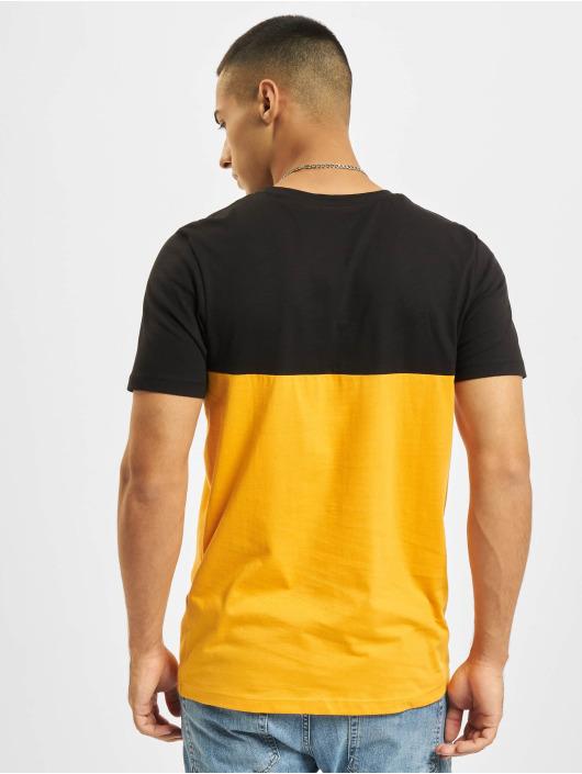 Jack & Jones t-shirt Jjeurban Blocking O-Neck oranje