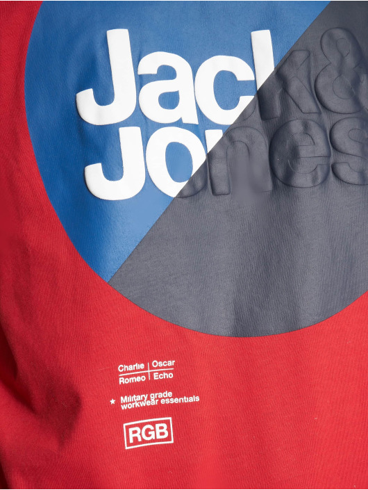 Jack & Jones T-Shirt jcoLogan red