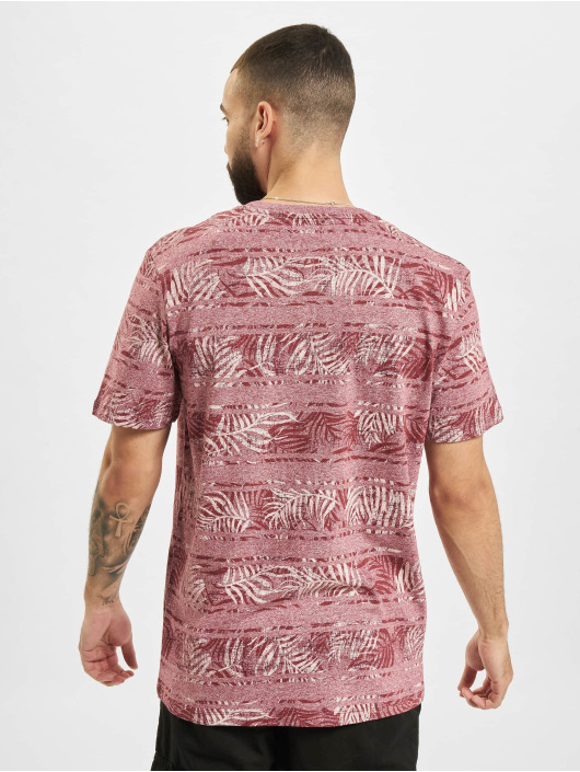 Jack & Jones T-Shirt JPR Bludust Placement Stripe red