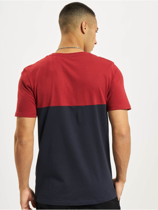 Jack & Jones t-shirt Jjeurban Blocking O-Neck rood