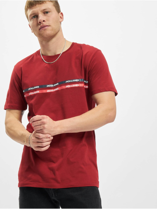 Jack & Jones t-shirt Jjgavin rood