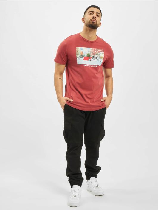 Jack & Jones T-Shirt jorSantaparty rot