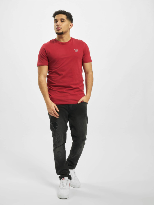 Jack & Jones T-Shirt jjeDenim Logo O-Neck Noos rot