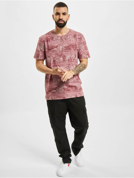 Jack & Jones T-Shirt JPR Bludust Placement Stripe rot