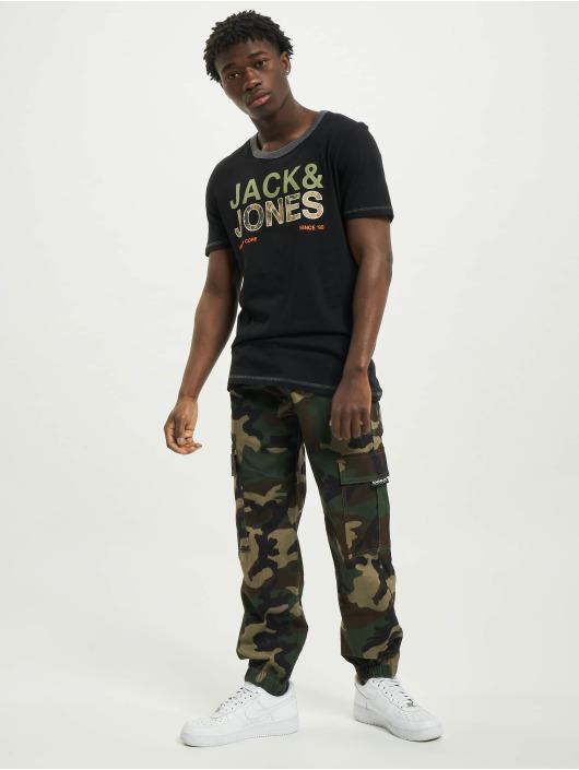 Jack & Jones T-Shirt jcoArt schwarz