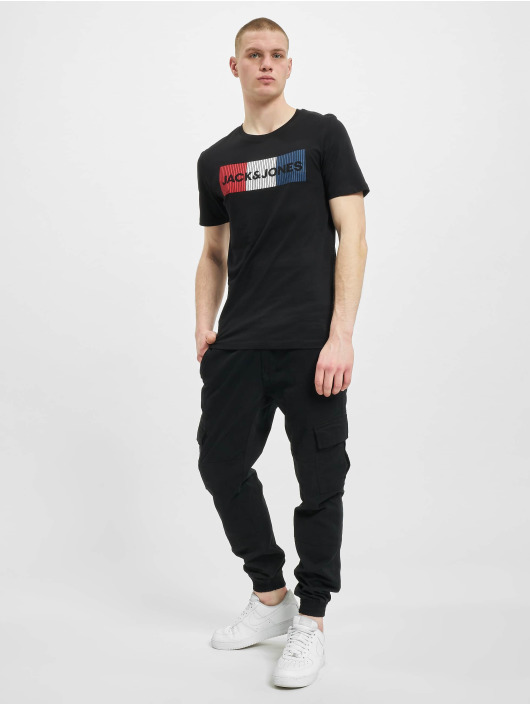 Jack & Jones T-Shirt jjeCorp Logo Noos schwarz