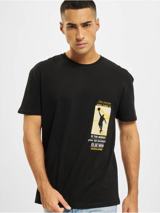 Jack & Jones T-Shirt Jcolegends Statement Crew Nec schwarz