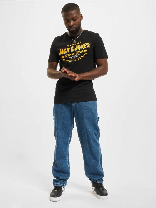 Jack & Jones T-Shirt Jjelogo O-Neck schwarz