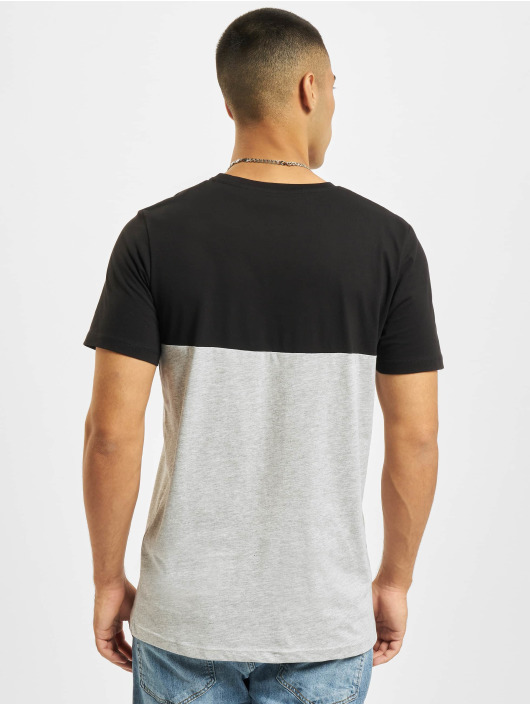 Jack & Jones T-Shirt Jjeurban Blocking O-Neck schwarz