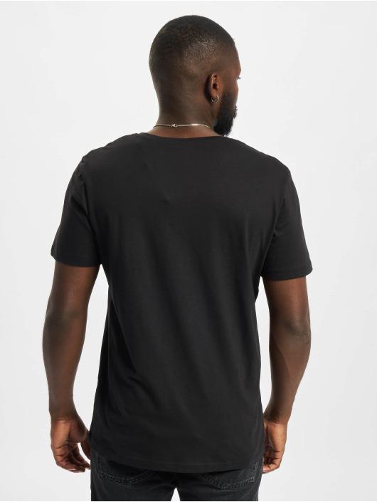 Jack & Jones T-Shirt Jcobilo Crew Neck schwarz