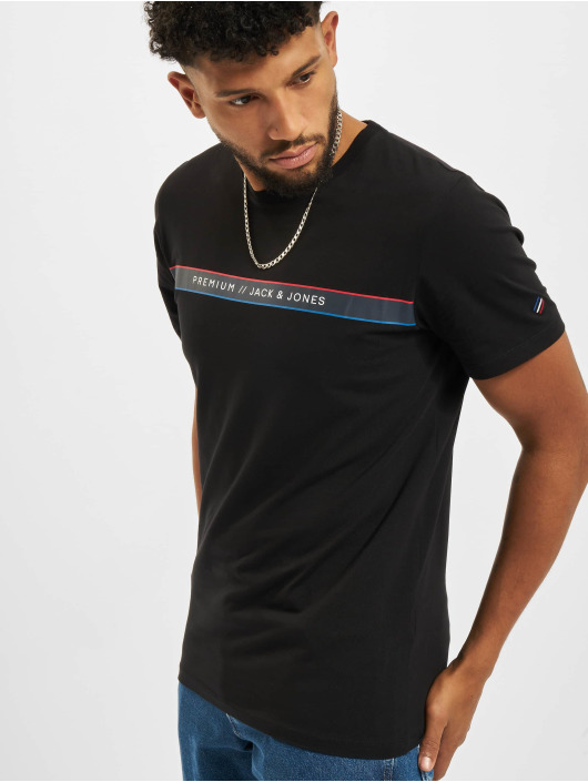 Jack & Jones T-Shirt Jprblaline Crew Neck schwarz