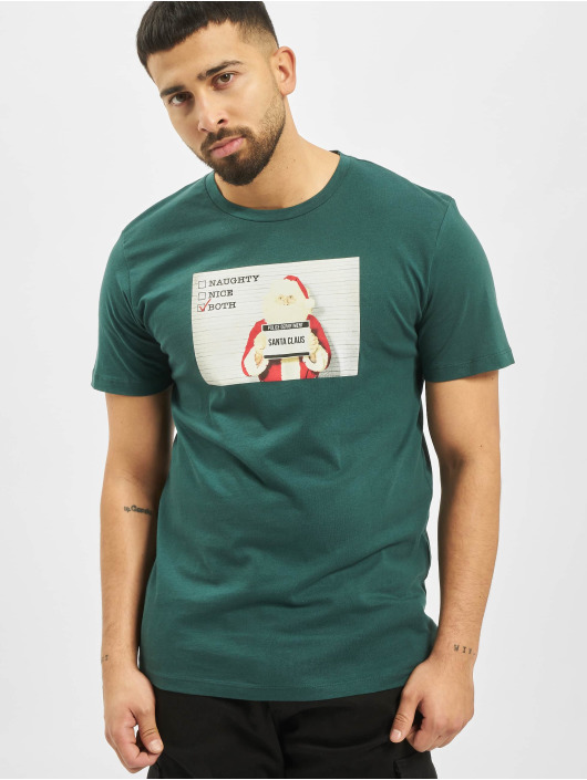 Jack & Jones T-Shirt jorSantaparty türkis