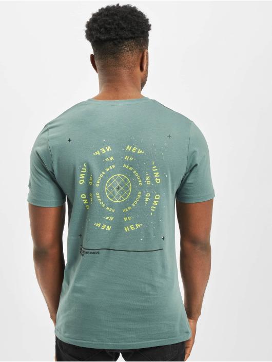 Jack & Jones T-Shirt jcoGrid Crew Neck türkis