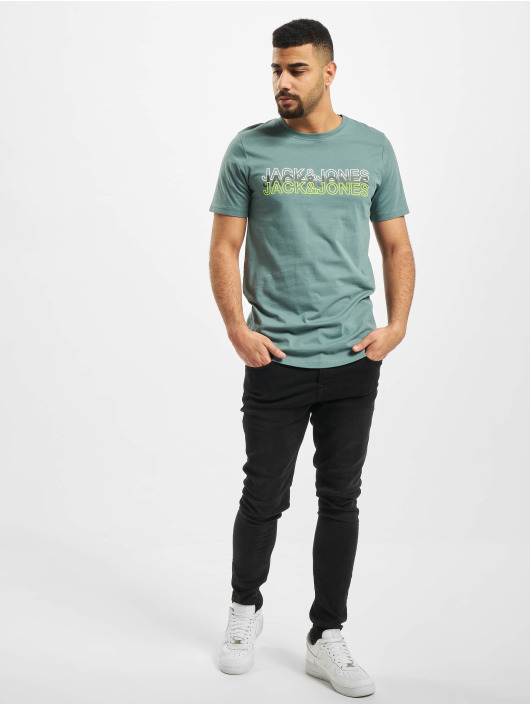 Jack & Jones T-Shirt jcoBlane Crew Neck türkis
