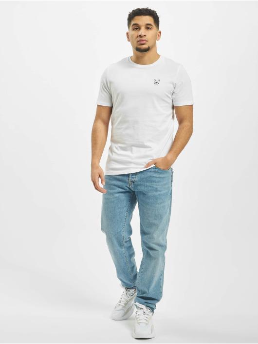 Jack & Jones T-Shirt jjeDenim Logo O-Neck Noos weiß
