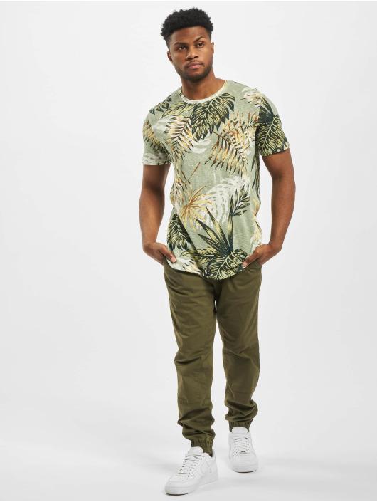 Jack & Jones T-Shirt jorEli Organic AOP Crew Neck weiß