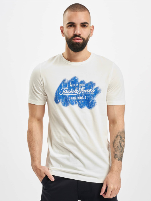 Jack & Jones T-Shirt jorTorino Crew Neck FST weiß