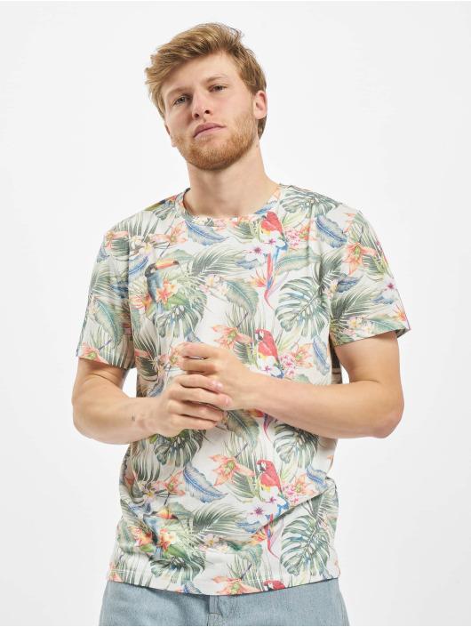 Jack & Jones T-Shirt jorTropicalbirds weiß
