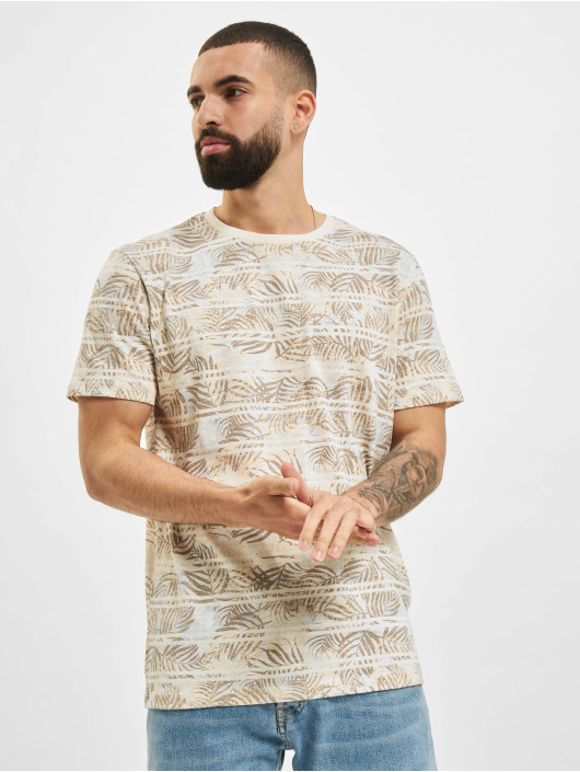 Jack & Jones T-Shirt JPR Bludust Placement Stripe weiß