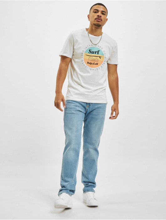 Jack & Jones T-Shirt Jorcabana Crew Neck weiß